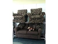 Exdisplay sofology grey 3&2 sofas button back delivery available bargain