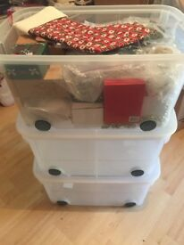 3 x Plastic Storage Tubs