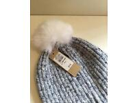 River island women's knitted bobble hat one size BNWT