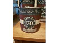 One 2.5 litre tin of farrow and ball water based paint in castle gray number 92