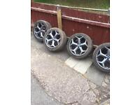 Focus st2 250 alloys with goodyear eagle f1 tyres may fit others