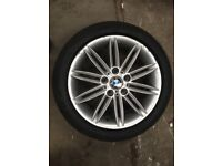 Bmw 1 series alloy wheel with tyre