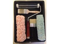 Dulux Decorating Kit Rollers Paint Brushes Tray Set DIY