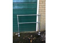 Chrome towel rail vintage