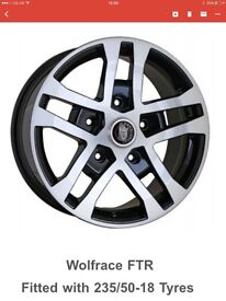 "18"" brand new rims and tyres for ford transit"
