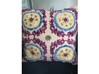 Bed spread and luxury decorative pillow cover and pillow inserts