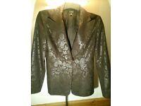 Kookai tailored brown leaf design jacket