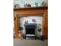 LARGE SOLID WOOD FIRE SURROUND
