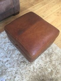 High Quality Leather Footstool