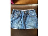 Animal short denim skirt size 10