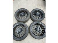 "Genuine original 19"" AMG Mercedes alloys wheels with tyres."