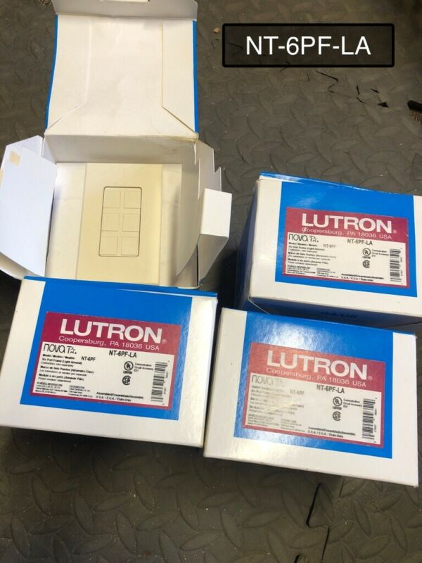 Lutron wall plates and port frames