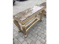 Consul table and matching large side table
