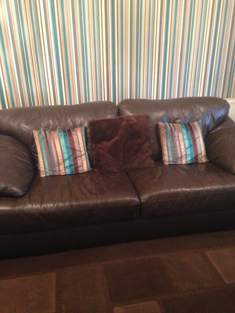 Awesome Free 3 2 Seater Dark Brown Leather Sofas In Nelson Onthecornerstone Fun Painted Chair Ideas Images Onthecornerstoneorg