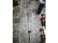 6' Olympic weight lifting bar.