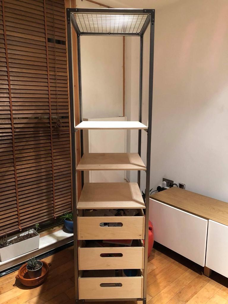 storage shelving unit ikea veberod shelving unit in hoxton gumtree 26895
