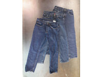 3 pairs of unbranded jeans 32 waist 32 leg