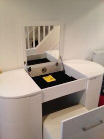 Brand new white gloss dressing table