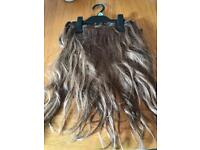 6x Clip In Hair Extensions Mousey Brown