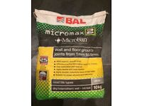 BAL Micromax2 Smoke 10kg tile grout - 4 bags available in total