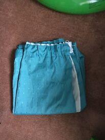 46x54 teal blue curtains