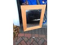 Wooden pine mirror