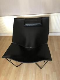 Luxury leather chair hand made