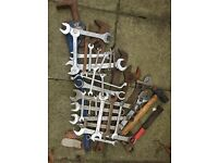 Assortment is spanners ideal for people doing car boot