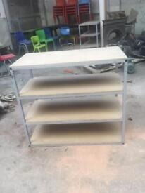 Storage shelves unit