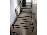 Black Single Metal Bed Frame