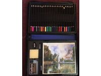 BRAND NEW ART SET WITH COLOURING PENCILS AND OTHER ART THINGS