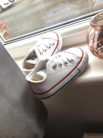 Size 3 leather converse toddler