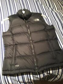 Women's Black North Face Gilet Small