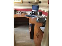 Executive office suite desk, filing cabinets, stationery cabinet, absolute bargain!!!