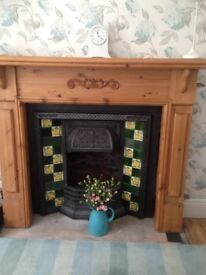 Cast iron fireplace with surround 150 pounds ono