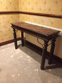 Next solid wood and wrought iron console