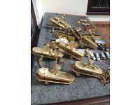 Brass effect door handles hinges etc
