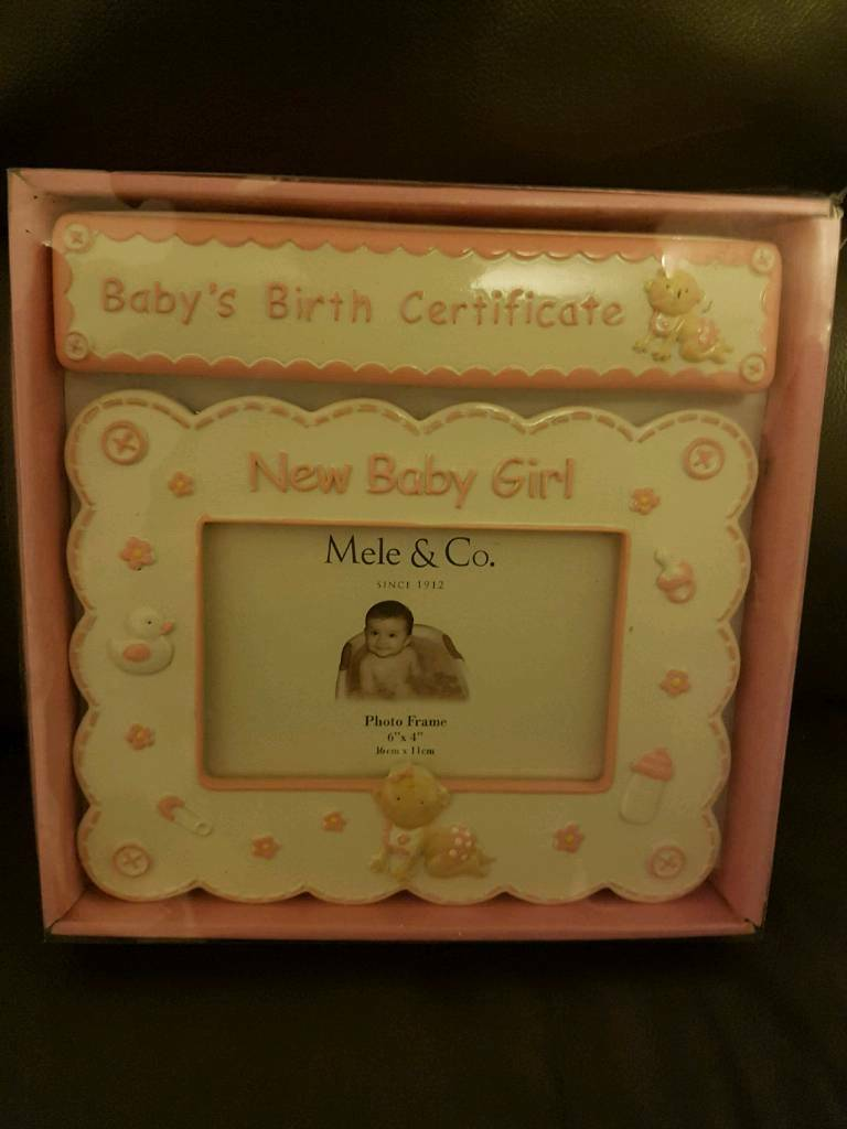 Baby Girl Birth Certificate Holder And Photo Frame In Aberdeen Gumtree