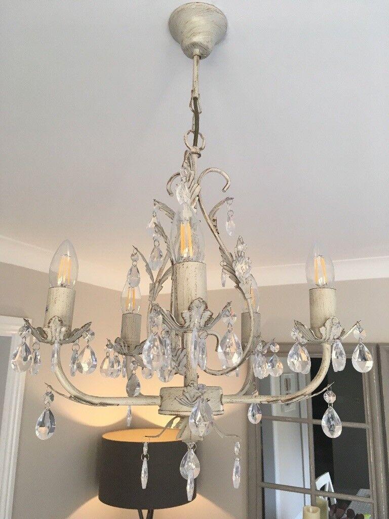 image chandelier lighting. Ceiling Chandelier 5 Light Leaf And Jewel Image Lighting