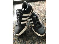 Size 1 Adidas Neo charcoal grey trainers
