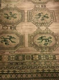"""Hessian backed large rug 11'4"""" x 8'"""