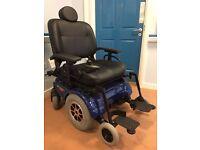 Pride Quantum 1650 Powerchair. Electric bariatric wheelchair. As new