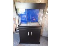 ClearSeal 210Ltr Marine Fish Tank & Deltec Sol Twin Led Light unit