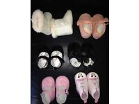 Baby girl shoes, sizes 0-3 shoes and crib trainers barely wore great condition shoes never worn