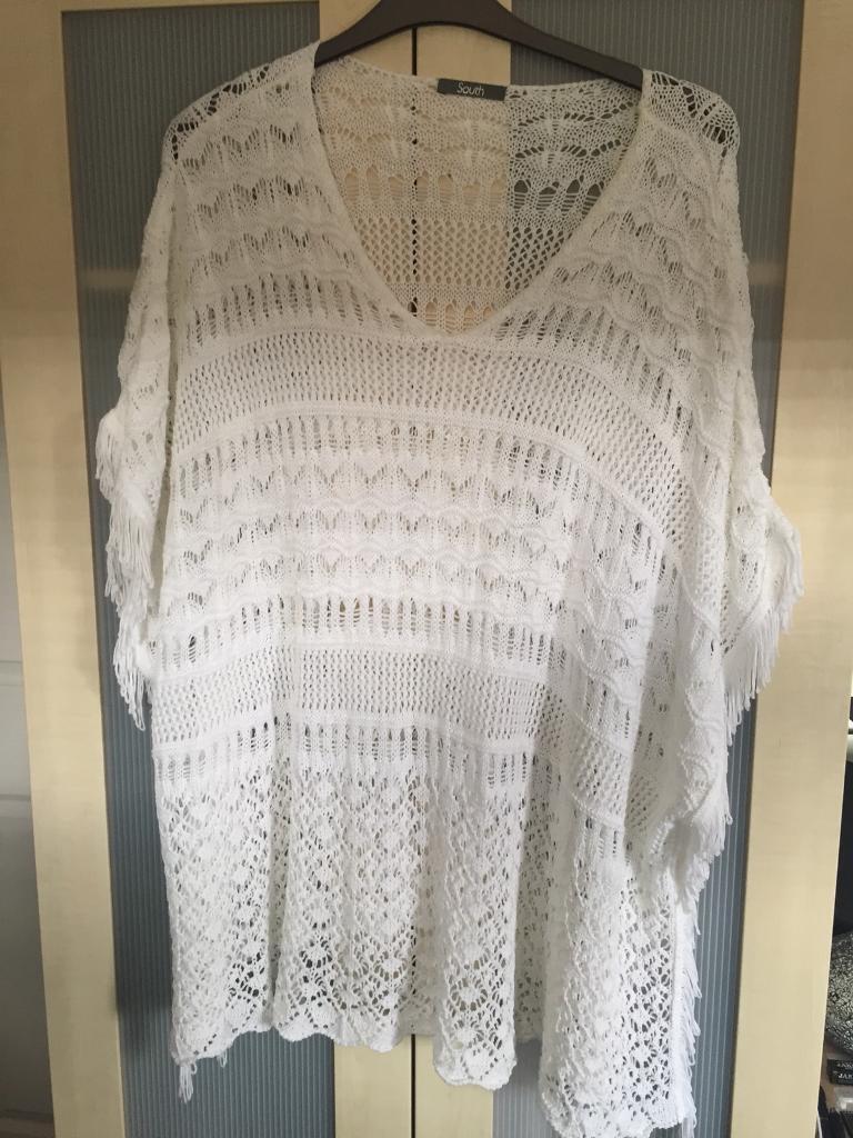 South crochet fringed kaftan/kimono