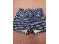 Polka Dot Shorts, size 8