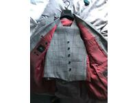 Moss London red check suit