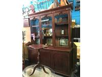 Two stunning Victorian antique massive bookcases perfect