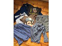 Bundle of boys clothes (6 yrs) - Next, Zara, 77 kids - shorts, button shirts, T shirts, tie