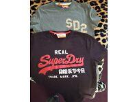 Mens superdry small tshirts